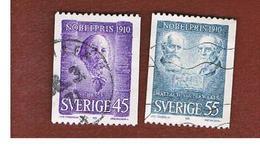 SVEZIA (SWEDEN) - SG 635.636 - 1970   NOBEL PRIZE WINNERS OF 1910         - USED° - Sweden