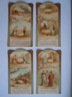 Les Offices à La Chrèche 4 Image Pieuse Holy Card Santini Boumard Fils 5292 - Images Religieuses