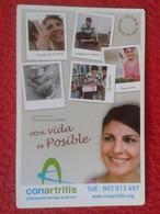 ANTIGUO OLD CALENDARIO CALENDAR DE BOLSILLO MANO 2010 PUBLICIDAD ADVERTISING CONARTRITIS ARTRITIS Arthritis MADRID SPAIN - Tamaño Pequeño : 2001-...
