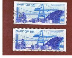 SVEZIA (SWEDEN) - SG 647 - 1971   CONTAINER PORT, GOTHENBURG (2 DIFFERENT PERFORATIONS)       - USED° - Sweden