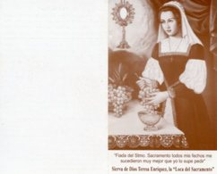 "Santino Depliant SIERVA DE DIOS TERESA ENRÍQUEZ La ""Loca Del Sacramento"" (Testi In Spagnolo) - PERFETTO P82 - Religione & Esoterismo"