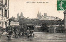 ¤ Coutances - La Sortie De La Gare - Coutances