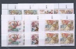 """Österreich 1968: """"Barocke Fresken"""" Kpl.Satz Postfrisch Luxus 4er-Block Mit Randanhang - 1961-70 Unused Stamps"""