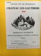 8949 - Château Les Gauthiers 1982 - Bordeaux