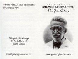 Santino Depliant SERVITEUR DE DIEU JOSÉ GÁLVEZ GINACHERO - PERFETTO P82 - Religione & Esoterismo