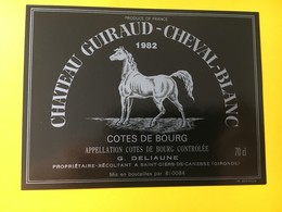 8953 - Château Guiraud-Cheval-Blanc 1982 Côtes De Bourg - Bordeaux
