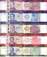 LIBERIA 5 10 20 50 100 Dollars Set 2016 P 31 - 35 UNC - Liberia
