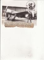 Photo De Presse RECORD DE VITESSE  Monoplan De Howard Hugues Vitesse 332 Miles à L'Heure 27 Janvier 1937 RV - Aviation