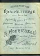 CATALOGUE MANUFACTURE DE ROBINETTERIE A. NOURISSEAU - AOUT 1901 - VOIR L'ETAT ET LES SCANS - Old Paper