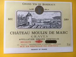 8956 - Château Moulin De Marc 1980 Graves - Bordeaux