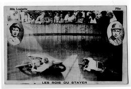 Stayer Derny Moto Cyclisme Sur Piste En Bois Très Animée Spectateurs 1920 Très Bon état - Cyclisme