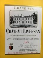 8962 - Château Liversan 1971 Haut Médoc - Bordeaux