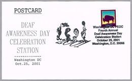 DEAF AWARENESS DAY CELEBRATION. Washington DC 2001 - Handicap
