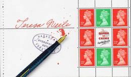 GREAT BRITAIN 1991 £1.98 Agatha Christie Prestige Booklet Pane - Booklets