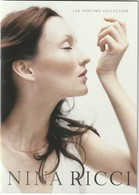 NINA RICCI Superbe Livret 14 Pages Les Parfums Collection En Cristal Lalique - Perfume Cards