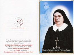 Santino Depliant BEATA MARIA CROCIFISSA DEL DIVINO AMORE (Maria Gargani) - PERFETTO P82 - Religione & Esoterismo