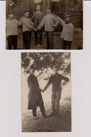 Guerre 1914-1918 : Soldats Belges Et Français Croix-Rouge De VERVIERS (cartes Photos) - War 1914-18