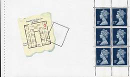 GREAT BRITAIN 1991 £1.02 Agatha Christie Prestige Booklet Pane - Booklets
