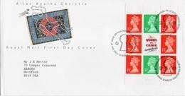 GREAT BRITAIN 1991 Agatha Christie Prestige Booklet Pane FDC - 1991-2000 Decimal Issues