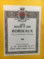 8969 - Château Le Cone 1970 - Bordeaux