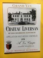 8970 - Château Liversan 1970 Haut-Médoc - Bordeaux
