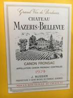 8971 - Château Materis-Bellevue 1979 Canon-fronsac - Bordeaux