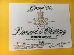 8972 - Léonard De Chatéguy 1978 - Bordeaux