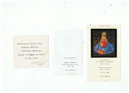INSTITUTION SAINTE - IDE PREMIERE COMMUNION EGLISE St LEGER DE LENS 1955. 1958. 1961 - Images Religieuses