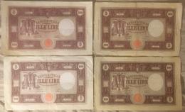 1000 Lire M Grande Lotto 4 Pezzi 1943/1944/1946/1947 - [ 1] …-1946 : Kingdom
