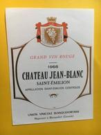 8973 - Château Jean-Blanc 1966 Saint-Emilion - Bordeaux