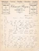 74 THONES Haute Savoie COURRIER 1916  Fromages REBLOCHON TOMMES Clémént BOZON  - A56 C/ FAVERGES - France