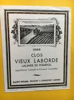 8974 - Clos Vieux Laborde 1969 Lalande De Pomerol - Bordeaux