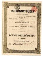 Les TRAMWAYS De KIEW; Action De Dividende - Russie