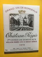 8975 - Château Régis 1978 - Bordeaux