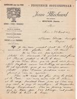 73 MOUTIERS  Savoie COURRIER 1907  Fruiterie Continentale Oranges Citrons Jean MICHARD   - A56 - France
