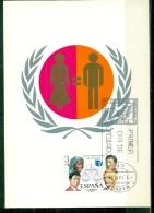 CM-Carte Maximum Card # 1975-Espana,Spain,Spanien # Année De La Femme ,Jahr Der Frau ,Women´s Year - Maximum Cards