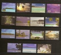 Aitutaki 2010 Yvertn° 603-617 *** MNH Cote 30 Euro Vues De L' île Tourisme - Aitutaki