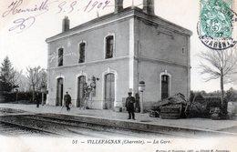 Cpa(16)--villefagnan -- La Gare. - Villefagnan