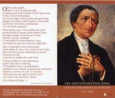 Santino Depliant VENERABILE GIOVANNI BATTISTA JOSSA Laico Del Terz'Ordine Agostiniano - PERFETTO P82 - Religione & Esoterismo