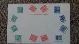 CPA CE QUE DISENT LES TIMBRES LANGAGE DECODE - Other
