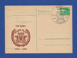 DDR Privatganzsache SSt - PLAU, 750 Jahre 29.6.85 - Briefe U. Dokumente