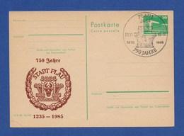 DDR Privatganzsache SSt - PLAU, 750 Jahre 29.6.85 - DDR