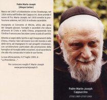 Santino Depliant PADRE MARIE-JOSEPH Cappuccino - PERFETTO P82 - Religione & Esoterismo