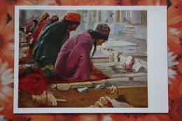 """Russian Art. RUSSIA Painter Terpsikhorov, """"Carpet Makers, Turkmenistan""""  -  1966 - Turkmenistan"""