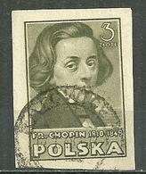 POLAND Oblitéré 488 Frédéric CHOPIN Musique Musicien - 1944-.... République