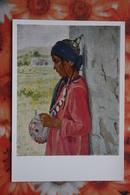 """Russian Art. RUSSIA Painter Terpsikhorov, """"Young Girl, Turkmenistan""""  -  1966 - Turkmenistan"""