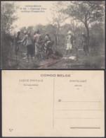 Congo Belge 1910 - Carte Postale Nr. 151.  Dépeçage D'une Antilope (Tanganyka)  Ref. (DD)  DC0283 - Congo Belge - Autres