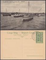 Congo Belge 1918 - Entier Postal Nr. 1 - Est Africain Allemand-Occupation Belge - Vue: Udjidji.  Ref. (DD)  DC0290 - Belgisch-Congo - Varia