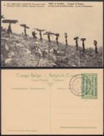 Congo Belge 1918 - Entier Postal Nr. 6 - Est Africain Allemand-Occupation Belge -  Vue: Bagages   Ref. (DD)  DC0295 - Belgisch-Congo - Varia