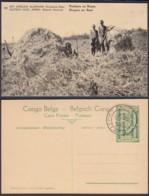 Congo Belge 1918 - Entier Postal Nr. 10 - Est Africain Allemand-Occupation Belge- Porteurs. Ref. (DD)  DC0299 - Congo Belge - Autres
